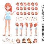 pretty girl for animation.... | Shutterstock .eps vector #779209432