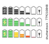 battery indicator icons set.... | Shutterstock .eps vector #779210848
