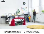 yellow carpet in bright scandi... | Shutterstock . vector #779213932