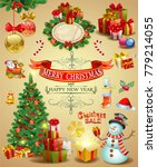vector christmas design... | Shutterstock .eps vector #779214055