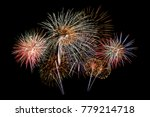 colorful firework on the night... | Shutterstock . vector #779214718