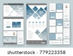 website template design with...
