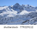 mountains covered with snow ...   Shutterstock . vector #779229112