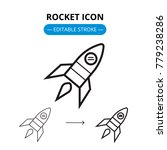 rocket line icon with editable... | Shutterstock .eps vector #779238286