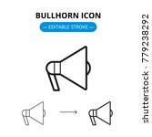 bullhorn line icon with... | Shutterstock .eps vector #779238292
