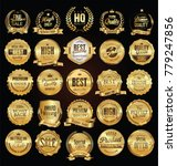 Super sale golden retro badges and labels vector collection   Shutterstock vector #779247856