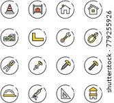 line vector icon set   road... | Shutterstock .eps vector #779255926