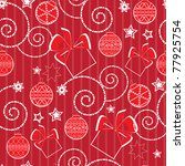 christmas pattern with balls... | Shutterstock .eps vector #77925754