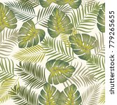 tropical jungle palm leaves... | Shutterstock .eps vector #779265655