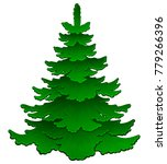 cartoon young green spruce.... | Shutterstock .eps vector #779266396