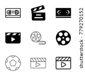 cinematography icons. set of 9... | Shutterstock .eps vector #779270152