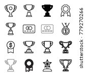 reward icons. set of 16... | Shutterstock .eps vector #779270266