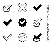 correct icons. set of 9...   Shutterstock .eps vector #779270362