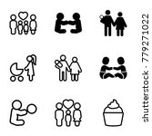 mom icons. set of 9 editable... | Shutterstock .eps vector #779271022