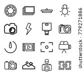 photography icons. set of 16... | Shutterstock .eps vector #779271886
