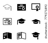 graduate icons. set of 9... | Shutterstock .eps vector #779271892