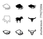 cattle icons. set of 9 editable ... | Shutterstock .eps vector #779272006