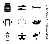 relax icons. set of 9 editable... | Shutterstock .eps vector #779272015