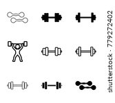 barbell icons. set of 9... | Shutterstock .eps vector #779272402