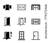 doorway icons. set of 9... | Shutterstock .eps vector #779272468