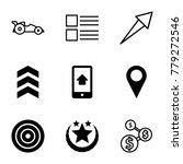 ui icons. set of 9 editable...