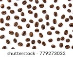 coffee beans pattern isolated... | Shutterstock . vector #779273032
