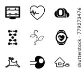 life icons. set of 9 editable... | Shutterstock .eps vector #779273476
