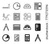 mathematics icons. set of 16... | Shutterstock .eps vector #779273596