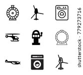 spin icons. set of 9 editable... | Shutterstock .eps vector #779273716