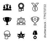 award icons. set of 9 editable... | Shutterstock .eps vector #779273722
