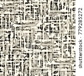 abstract monochrome checked ... | Shutterstock . vector #779285272