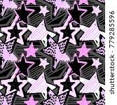 star shapes graffiti seamless... | Shutterstock .eps vector #779285596