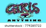 hipster funky t shirt  girls... | Shutterstock .eps vector #779285722