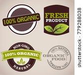set of non gmo  fresh  organic... | Shutterstock .eps vector #779288038