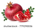 fresh pomegranate isolated on... | Shutterstock . vector #779290036