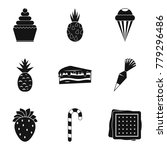 confectionery product icons set.... | Shutterstock .eps vector #779296486