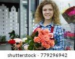 young beautiful smiling woman... | Shutterstock . vector #779296942