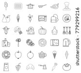 menu icons set. outline style...   Shutterstock .eps vector #779299216
