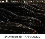 lights of christmas wreaths... | Shutterstock . vector #779300332
