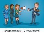 women speaking out loudly...   Shutterstock .eps vector #779305096