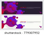 abstract 3d style banner design ... | Shutterstock .eps vector #779307952