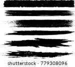 set of grunge brush strokes | Shutterstock .eps vector #779308096