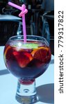 Small photo of Spanish sangria in a glass
