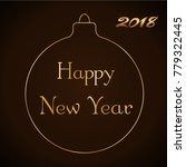 happy new year gold text in... | Shutterstock .eps vector #779322445