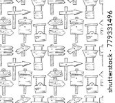 hand drawn seamless pattern... | Shutterstock .eps vector #779331496
