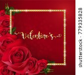 valentine's day greeting cards... | Shutterstock .eps vector #779335828