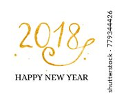 hand drawn new year lettering... | Shutterstock .eps vector #779344426