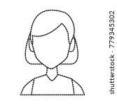 young woman faceless   Shutterstock .eps vector #779345302