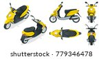 trendy electric scooter ...   Shutterstock . vector #779346478