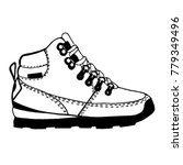 woman or man boots sketch. ... | Shutterstock .eps vector #779349496